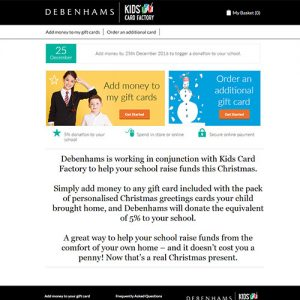 debenham for schools
