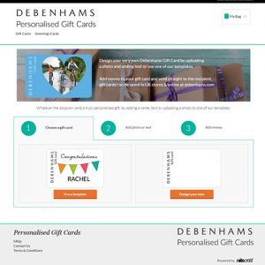 debenhams gift card